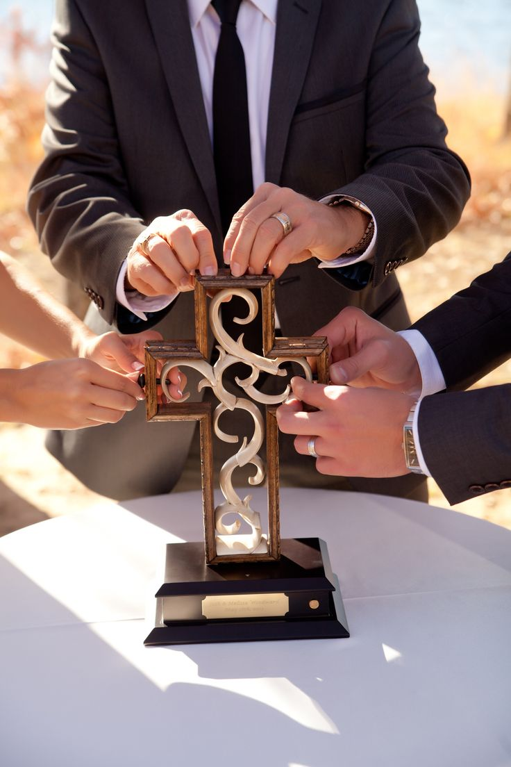 Pictured is a Unity Cross used during a Wedding Ceremony