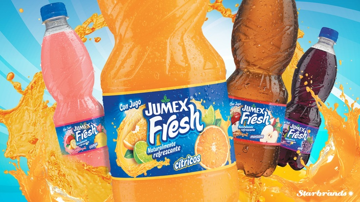 Diseño de empaque para el nuevo Jumex Fresh, el resultado de la alianza de dos grandes: Jumex y Pepsi. I 2012