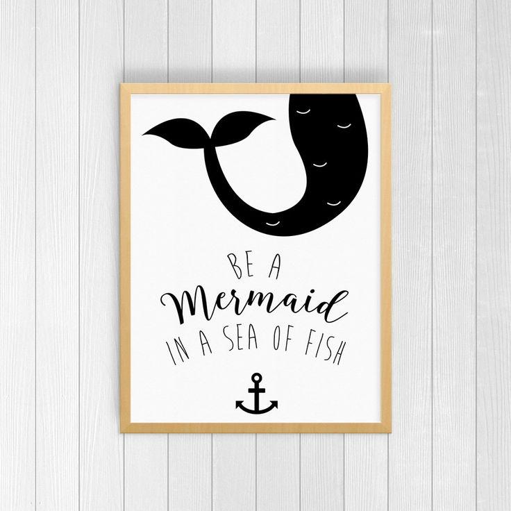 Printed Art, Mermaid Wall Print, Watercolor Mermaid, Mermaid Art, Birthday Gift, Home Decor, Office Decor, Gift for Her, 8x10, 11x14, 11x17 by AssimilationDesigns on Etsy https://www.etsy.com/listing/487275056/printed-art-mermaid-wall-print