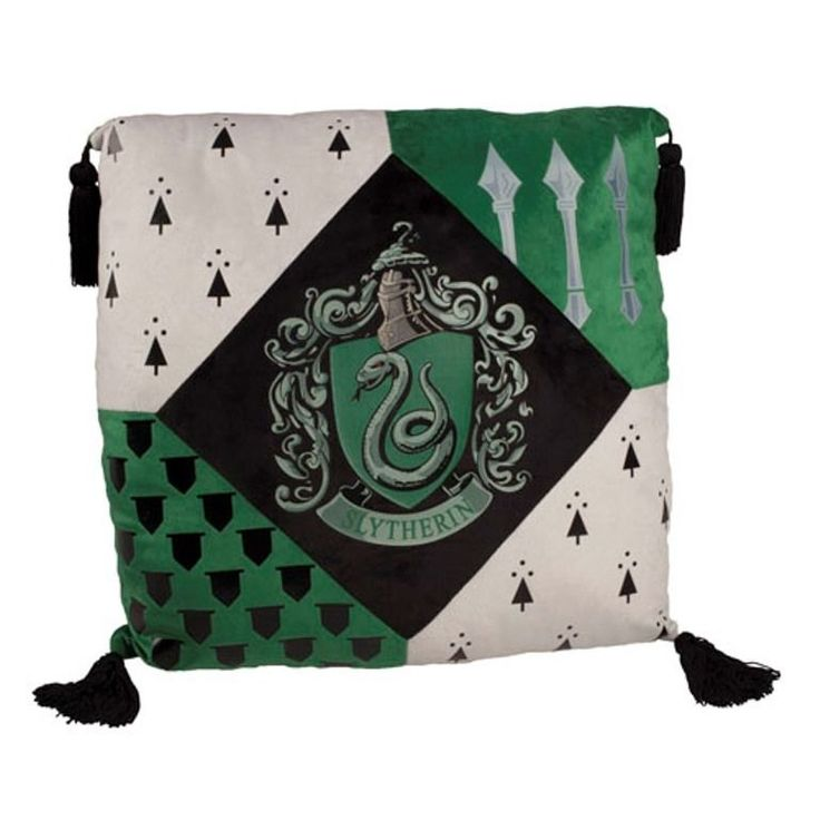 Wizarding World of Harry Potter Slytherin Crest Pillow Universal Studios | eBay