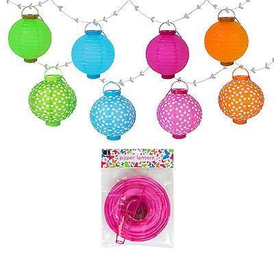 PAPER LANTERN BATTERY POWERED LED LIGHT STRING PARTY GARDEN FAIRY LIGHT