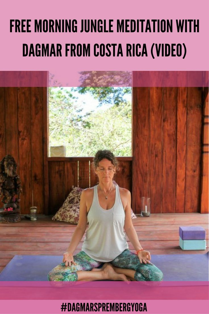 NEW: 10 min. Meditation video with Dagmar from her garden shala in Costa Rica. Meditate to the sounds of the jungle: Birds, monkeys and crickets. Enjoy!