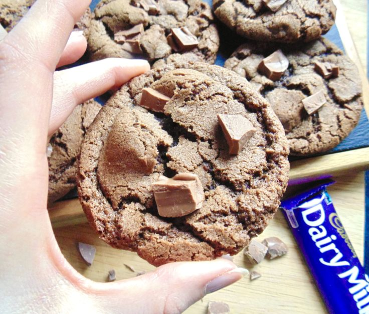 Cadbury Cookies; chunks of creamy Cadbury Dairy Milk Chocolate baked into crisp-edged, soft-centred cookies. No one can resist these!