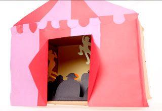 Kids Circus Themed Diorama #kids #crafts #circus