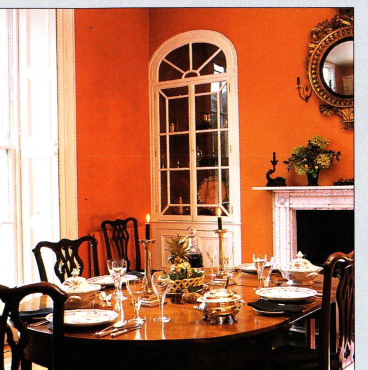 81 best images about orange dining room on pinterest for Georgian dining room ideas