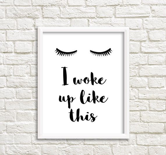 Lashes Print Eyelash print Eyelash Poster I woke up like this Mascara Print Lashes Poster Eyelashes Printable Fashion Printables 50x75 40x50