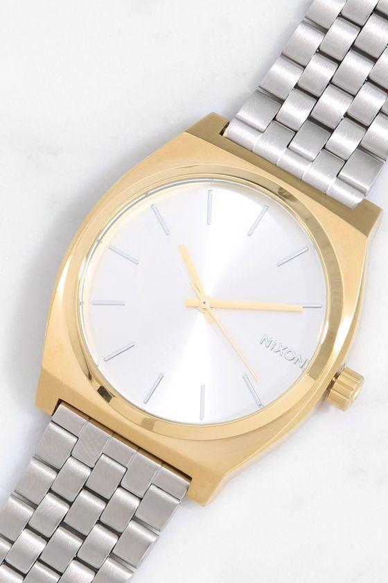 Nixon Time Teller Watch - Gold Watch - Silver Watch - $100.00