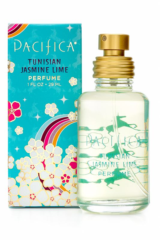 """Pacifica Tunisian Jasmine Lime: """"Limes, jasmine and lush orange flowers bloom in this fresh, bright, magical scent that is wearable all year. An intoxicating aura for the most fearless and adventurous free spirits."""""""