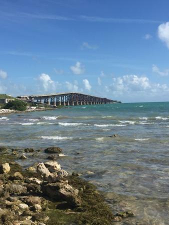 A break to do a little beach combing, The Overseas Highway, Florida Keys,