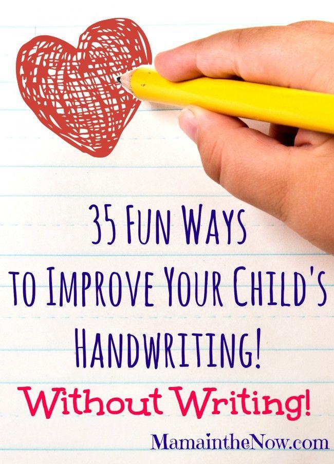enhancing activities to improve writing skills