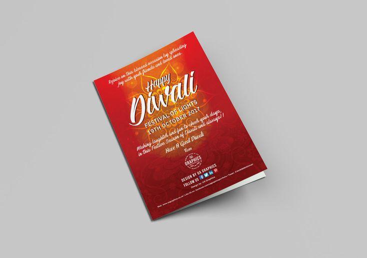 DIWALI CARD – Greeting card design for Diwali 2017, The Festival of Light presented bi-folds. #Diwali #graphicdesign #greetingcards #leaflets