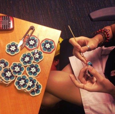 Crochet Art Blog: Crochet Flowers, Crochet 400X399, Crafts Crochet, Crochet Projects, Crochet Art, Crochet Africans, Crochet Dept, Crochet Knits, Crochet Inspiration