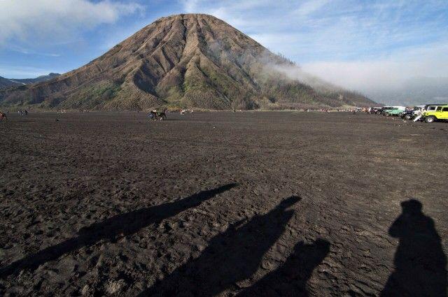 Mount Batok, located in Bromo area, Bondowoso, East Java