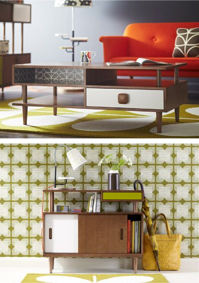 Orla Kiely new House Collection available in December. A range of furniture inspired by mid century design - ohhh can't wait!