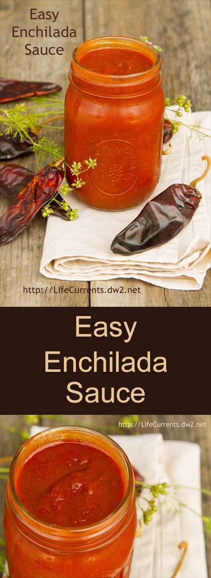 Easy Enchilada Sauce ... so much better than canned stuff, and doesn't take that long to make a big batch and keep it in your fridge or freezer.