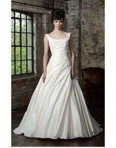 'Premiere'  Tafetta gown with scooped neckline &  heavy ruching to bodice & skirt Size 12 – Was £1700, Now £650 Fancy trying on this gown?  Email us now to make an appointment:   sarah@bridalgallerycoventry.co.uk