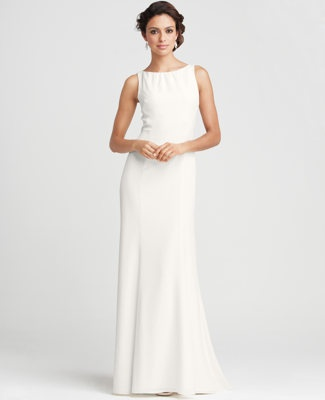 Basic pretty dress.  I didn't even know that ann taylor did wedding dresses.