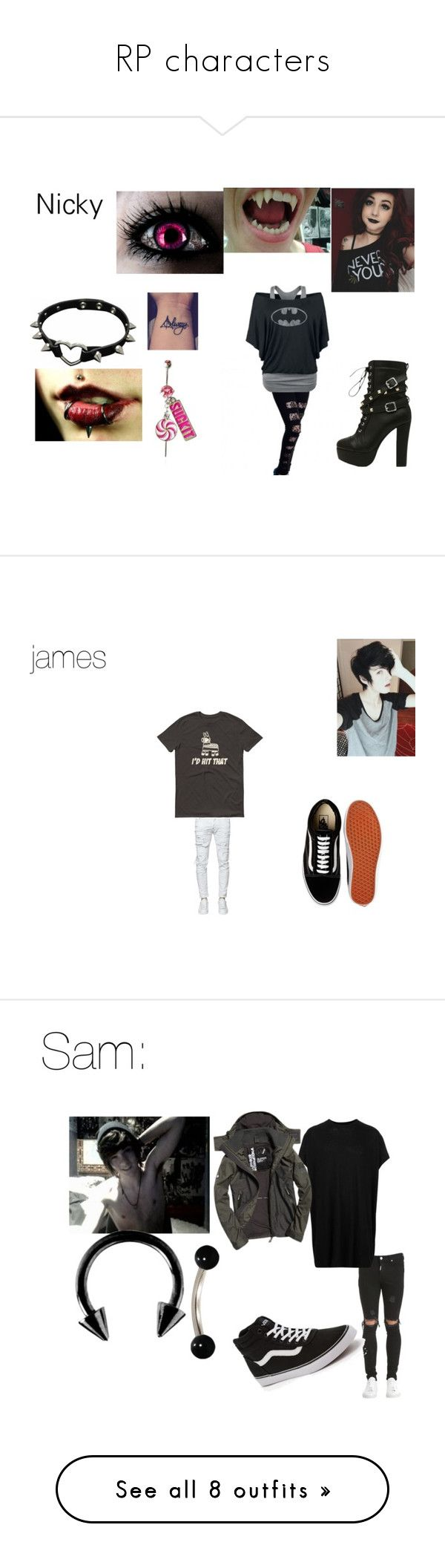 RP characters by hansen-justin on Polyvore featuring KAOS, Dsquared2, Vans, men's fashion, menswear, Represent, Lost & Found, Superdry, Urbiana and Hollister Co.