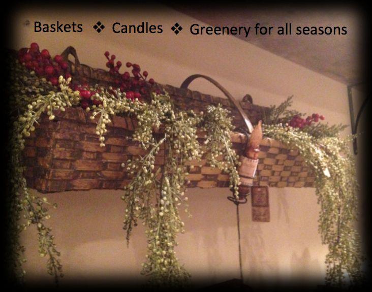 Baskets from Nana's Farmhouse. | Primitive Decorating ...