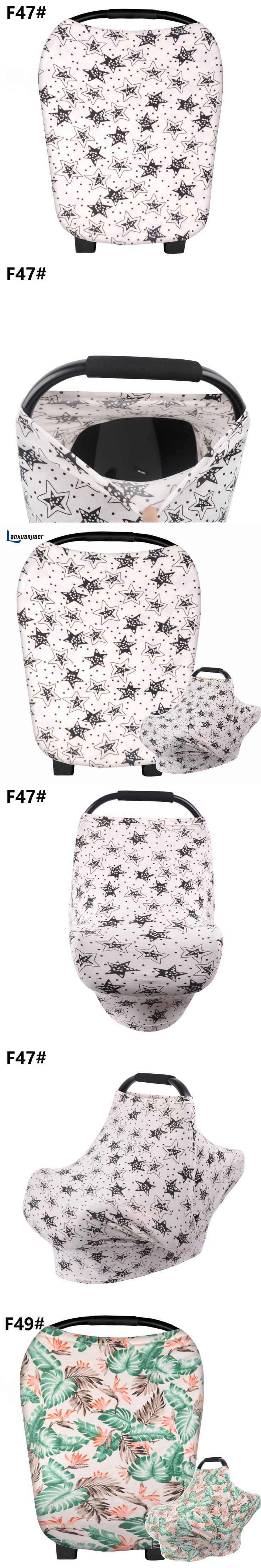 Breastfeeding nursing Cover Baby Car Seat Canopy Nursing Scarf cute star cotton Shopping Cart Cover and Stroller Sunshade covers