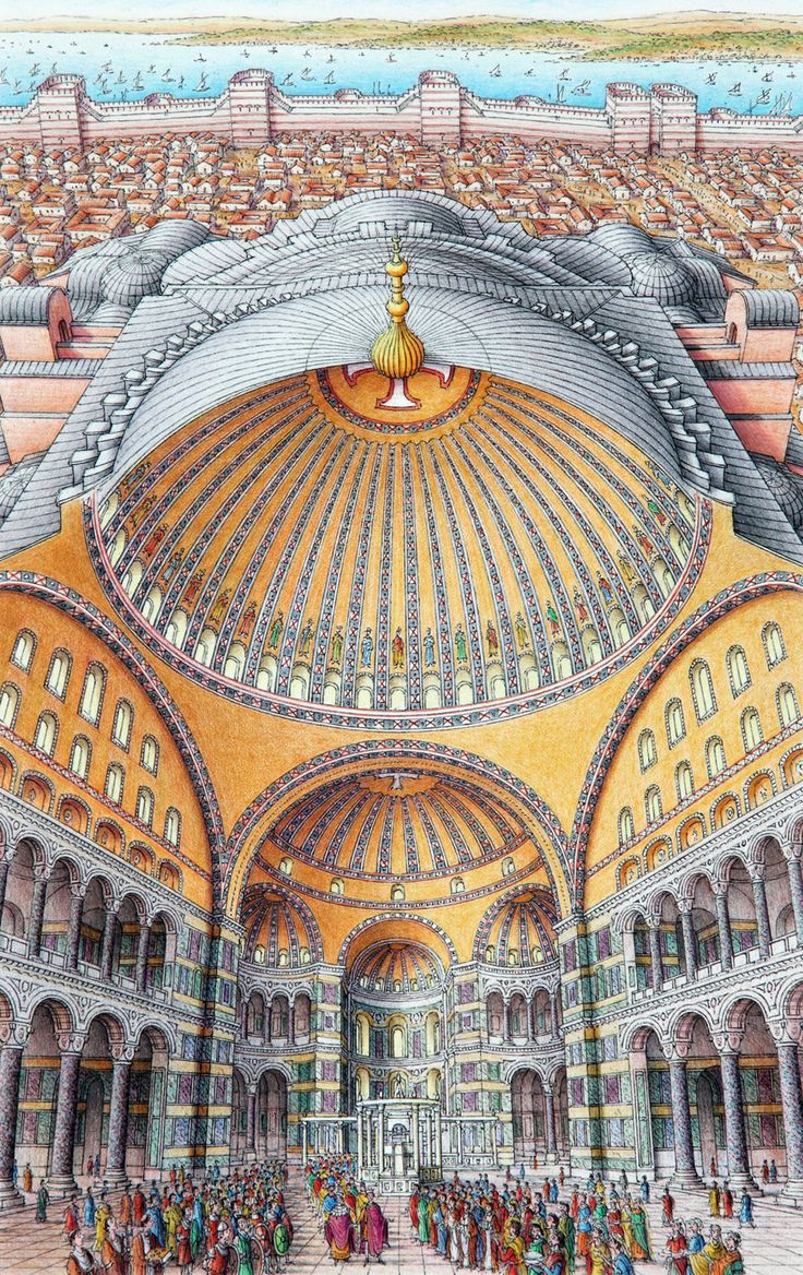 """""""Inside-out"""" view of Hagia Sophia"""