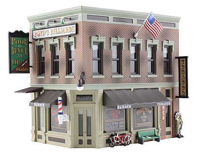 Built/Ready Corner Emporium HO (woobr5024) Woodland HO Scale Model Railroad Buildings