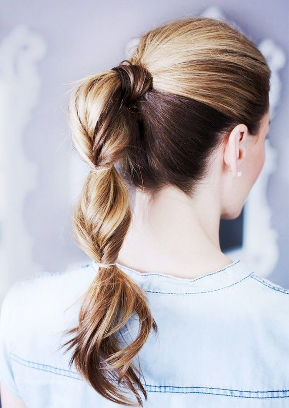 Faux Fishtail Pony | #beautymark