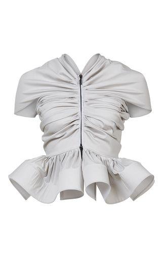 Ardour Gathered Top by MATICEVSKI for Preorder on Moda Operandi | Maticevski SS 17 | tonimaticevski.com