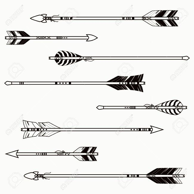 arrow tattoo stencil simple arrows drawing tattoos archery bear db american uploaded