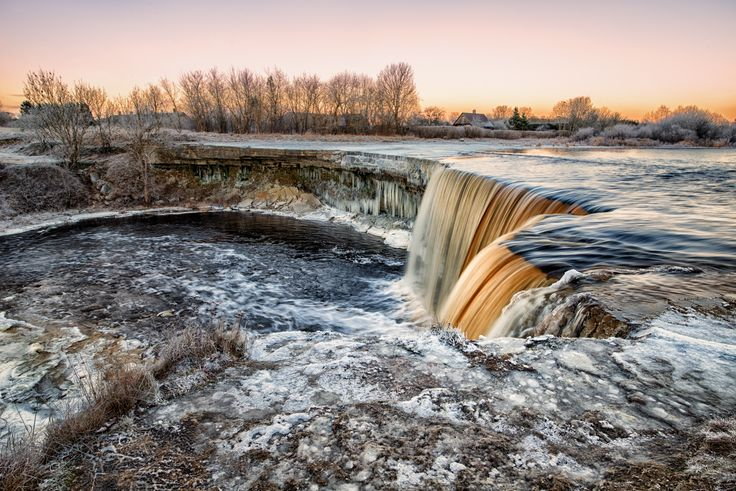 """Sulfur Falls - Many of you seemed to like the """"Icy Cascade"""" so here you go more of it.   The color in the water comes from nearby area rich in sulfur."""