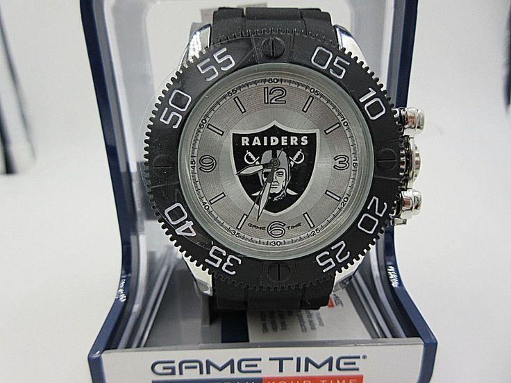 "Raiders watch Men's NFL  ""Beast""  game time quartz #GameTime #OaklandRaiders"