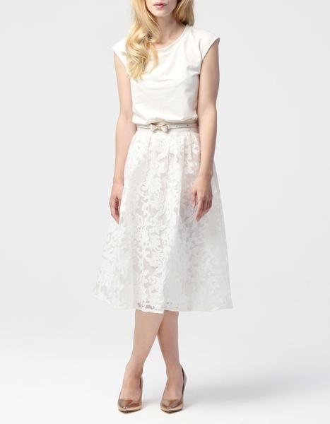 Hanna f white dress high lo