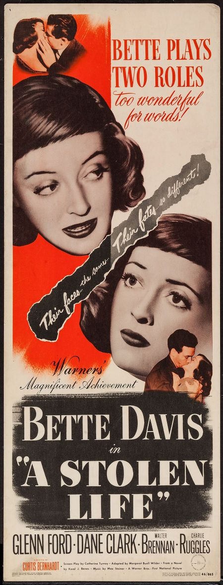 """Movie Posters:Drama, A Stolen Life (Warner Brothers, 1946). Insert (14"""" X 36""""). Drama..... Image #1"""
