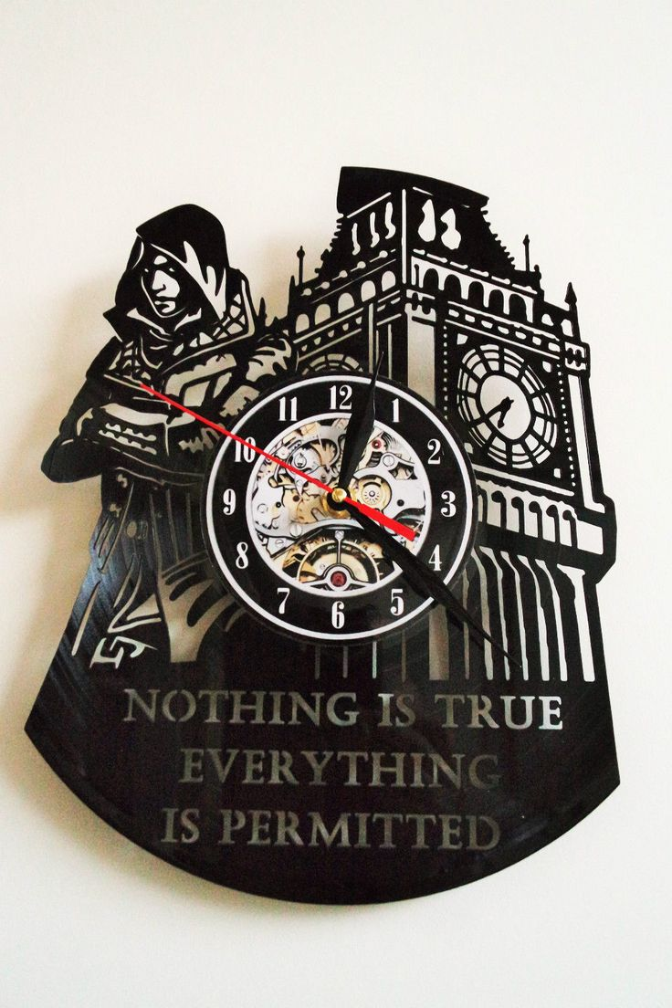 Assassins Creed Design vinyl record wall clock in Maison, Horloges, Horloges murales | eBay