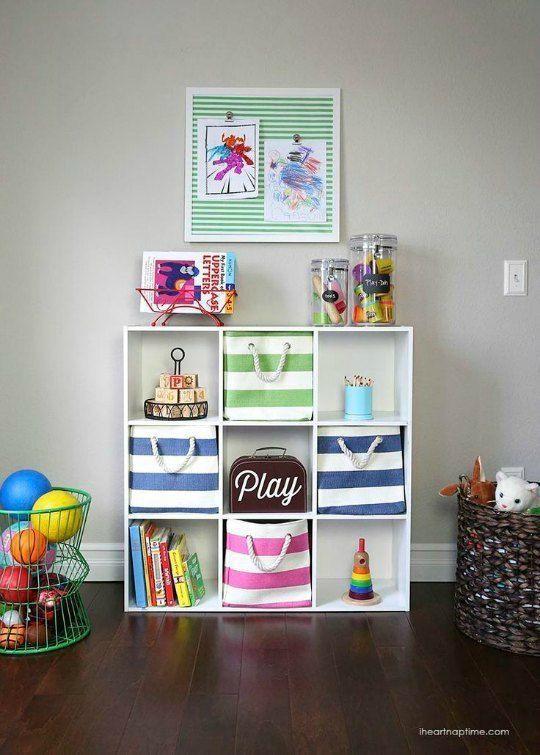 Mueble juguetero, cajas organizadoras