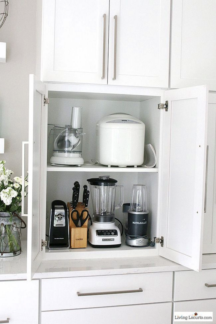 Kitchen small appliances storage - 11 Incredibly Useful Kitchen Organization Tips For Small House