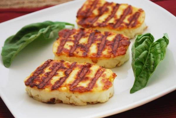 Grilled Halloumi Cheese Recipe - no bread tasted cheese