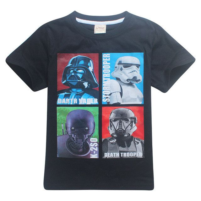 Star Wars New 2017 Summer Children clothing Baby boys girls star wars t-shirts