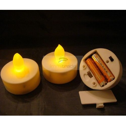 LED Tea Light Candle - LED Tea Lights (AAA battery Operated, Battery Powered, Long Lasting) [CAN-H02AA] - USD0.35 : ImmiTrade Global