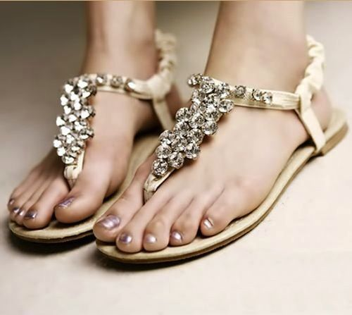 Flat Beach Wedding Shoes For Bride