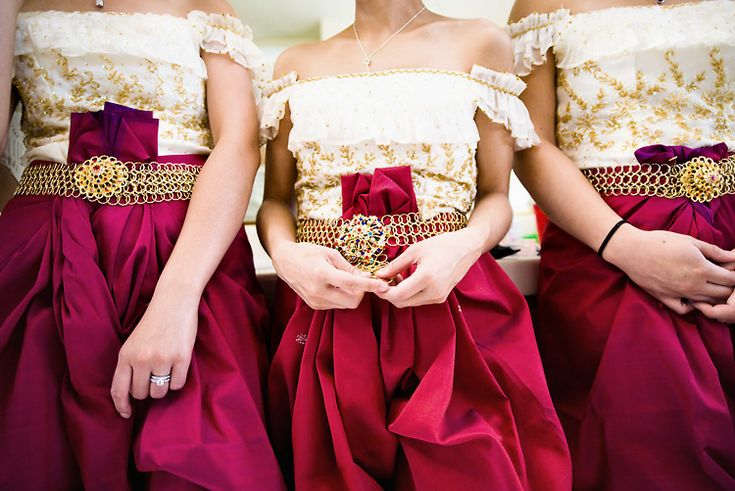 Khmer bridesmaid- this is so interesting! I love it!