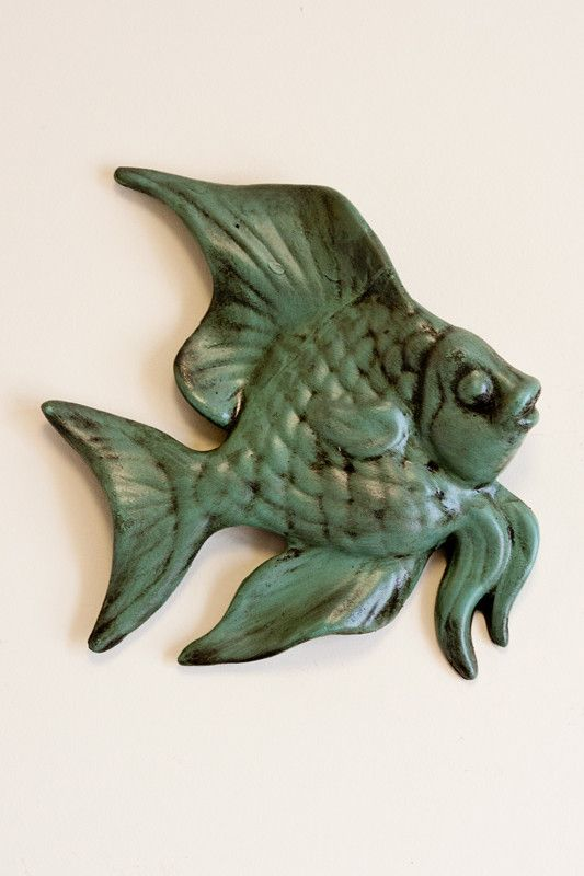 "Dress your walls with our whimsy angel fish home décor. - Approximately 11""H…"