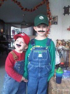 DIY Mario, Luigi & Toadette costumes