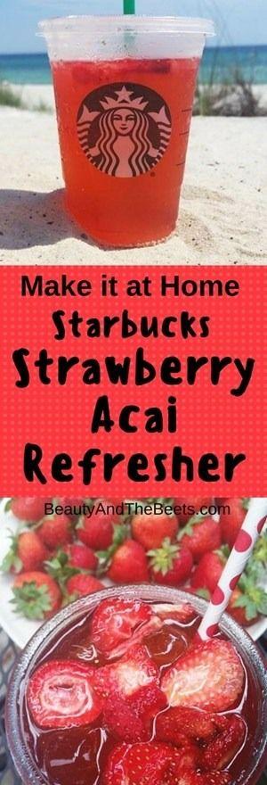 Copycat Starbucks Strawberry Acai Refresher