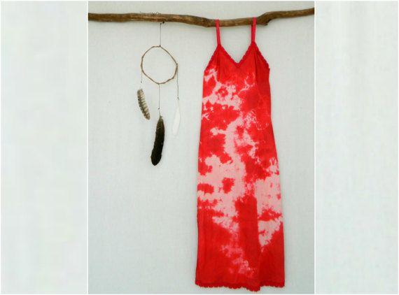 BOHEMIAN . women's tie dye maxi dress . size 12 . by bohemianbabes