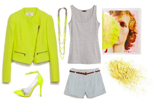 Лук с желтым пиджаком  look with a yellow jacket, fashion
