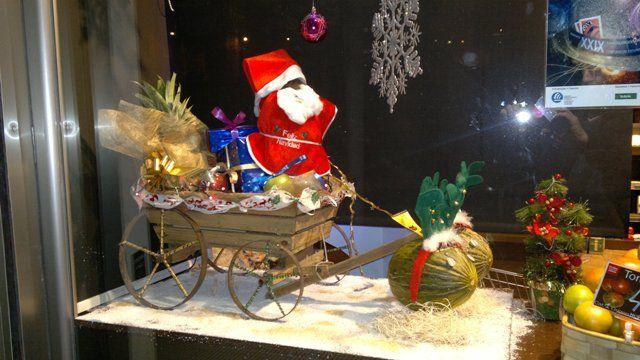 Escaparate de Navidad 2012 de Frutas Francisco Salado, comercio CiB
