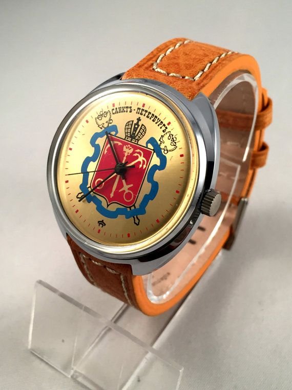 17 best ideas about vintage mens watches men s rare large vintage men s watch raketa eng rocket soviet mechanical watch rare dial comes new quality leather band