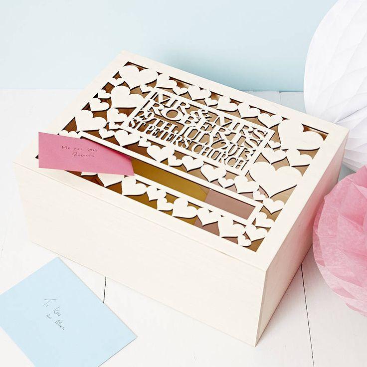 personalised wedding post box by sophia victoria joy | notonthehighstreet.com