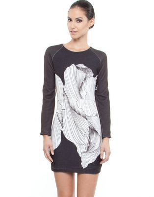 BY JOHNNY 'The Petal' Knit Sweater Dress